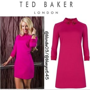 Ted Baker Eelah embellished collar dress 3 (US 8)